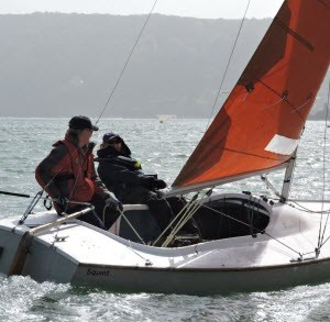 Squib Sailing in Salcombe, Devon
